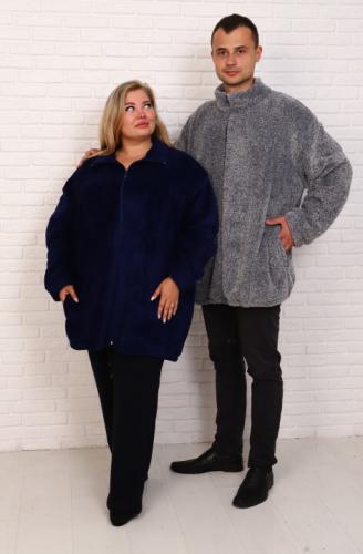 Куртка велсофт (ТГ-55) синяя (Россия) — размеры 70, 76